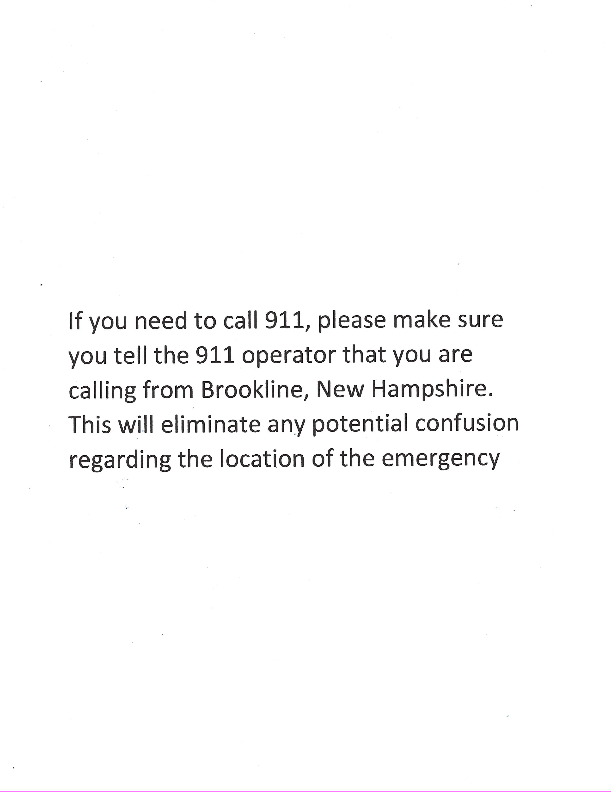 When you call 911
