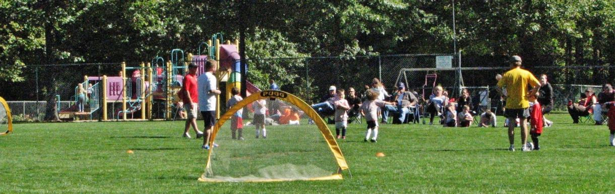Youth soccer at the Brookline Ball Park