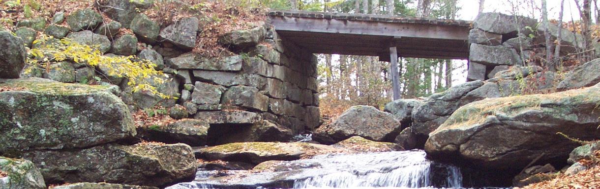 Stone bridge spanning running water